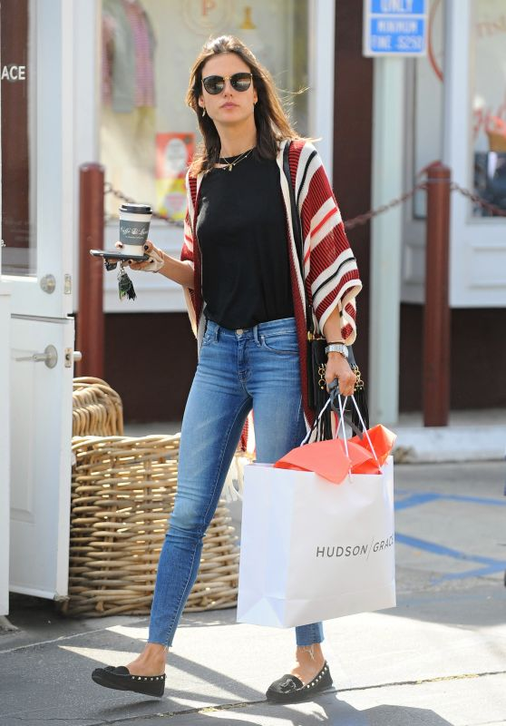 Alessandra Ambrosio Street Style - Out in Santa Monica 5/13/2016