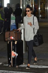 Alessandra Ambrosio Travel Outfit - JFK Airport in NYC 5/1/2016