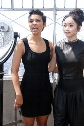 Alexandra Shipp & Lana Condor - Empire State Observatory at Empire State Building New York 5/25/2016