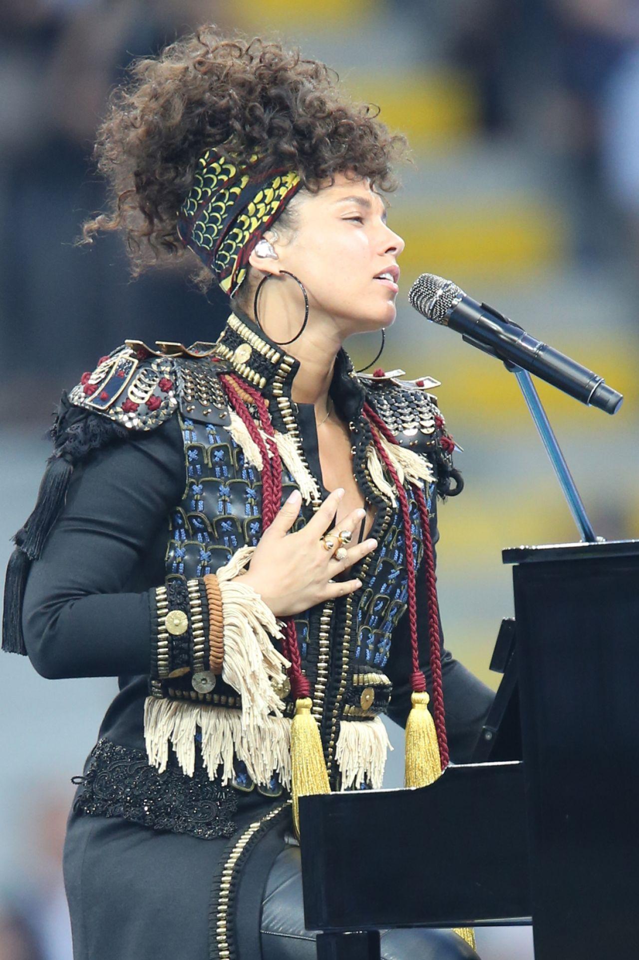 Alicia Keys Gives A Concert The UEFA Champions League