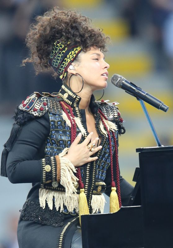 Alicia Keys Gives a Concert the UEFA Champions League Final at Milan, Italy 5/28/2016