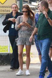 Alicia Vikander Summer Outfit Ideas - Takes a helicopter Ride in Rio de Janeiro 5/29/2016