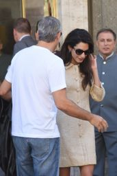 Amal and  George Clooney - Leaving  Hotel in Rome 5/30/2016