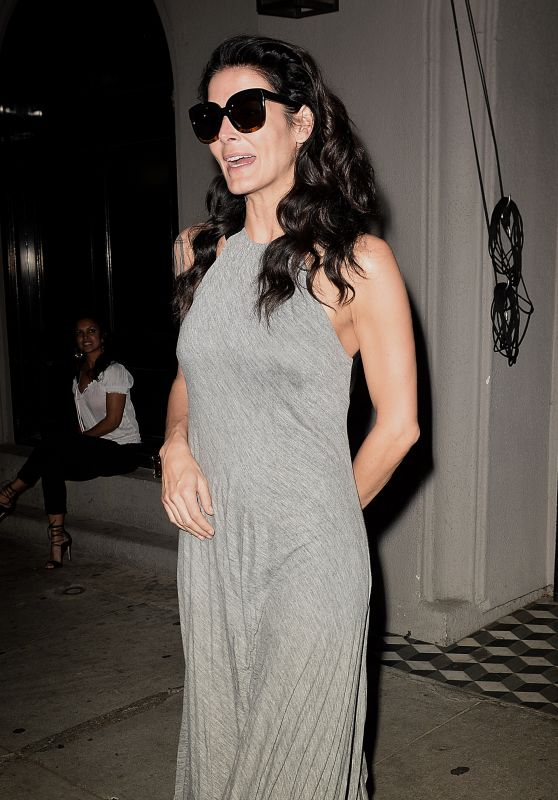 Angie Harmon Night Out Style - Outside Craig