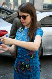 Anna Kendrick Style - Leaving BBC Radio Studios in London, 5/9/2016