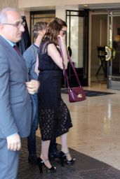 Anne Hathaway Outfit Ideas -Leaving Her Hotel in West Hollywood 4/30/2016