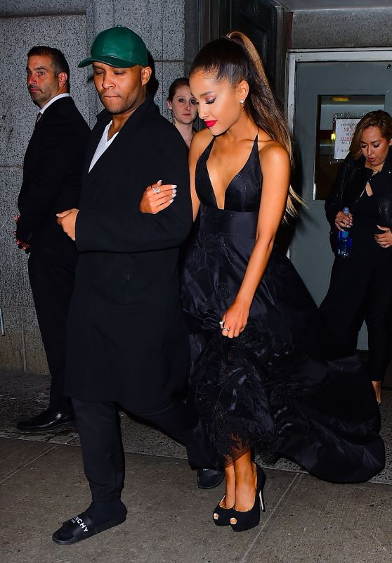 Ariana Grande - Leaving the DKMS Blood Cancer Gala in New York City 5/5/2016