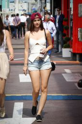 Barbara Palvin at the Qualifying for the Monaco Formula One Grand Prix in Monaco 5/28/2016