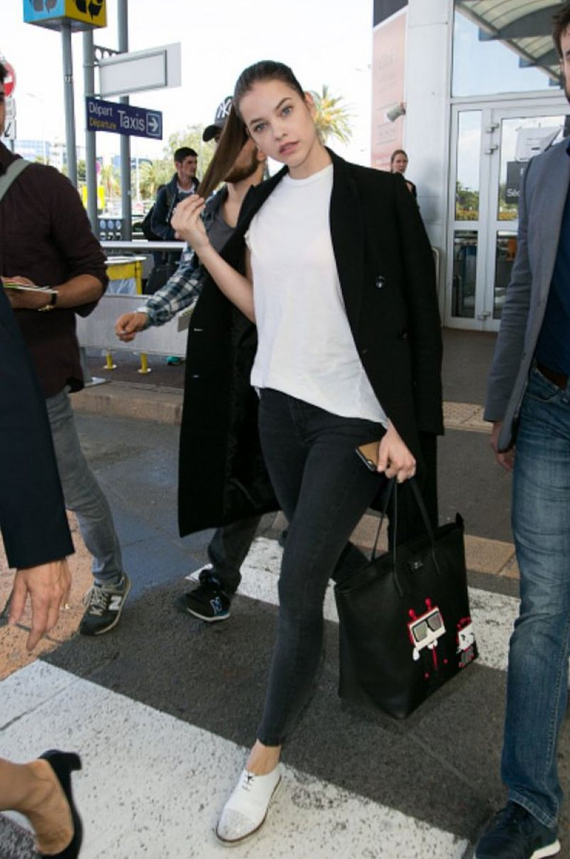Barbara Palvin Travel Outfit Airport In Cannes 5 16 2016