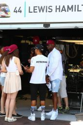 Barbara Palvin With Lewis Hamilton At Monaco Qualifying, May 2016