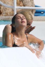 Bella Hadid In A Black Bikini At A Pool In France 05 10 2016