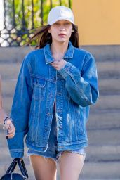 Bella Hadid Leggy in Jeans Shorts - Leaving The Commons in Calabasas, CA 5/22/2016
