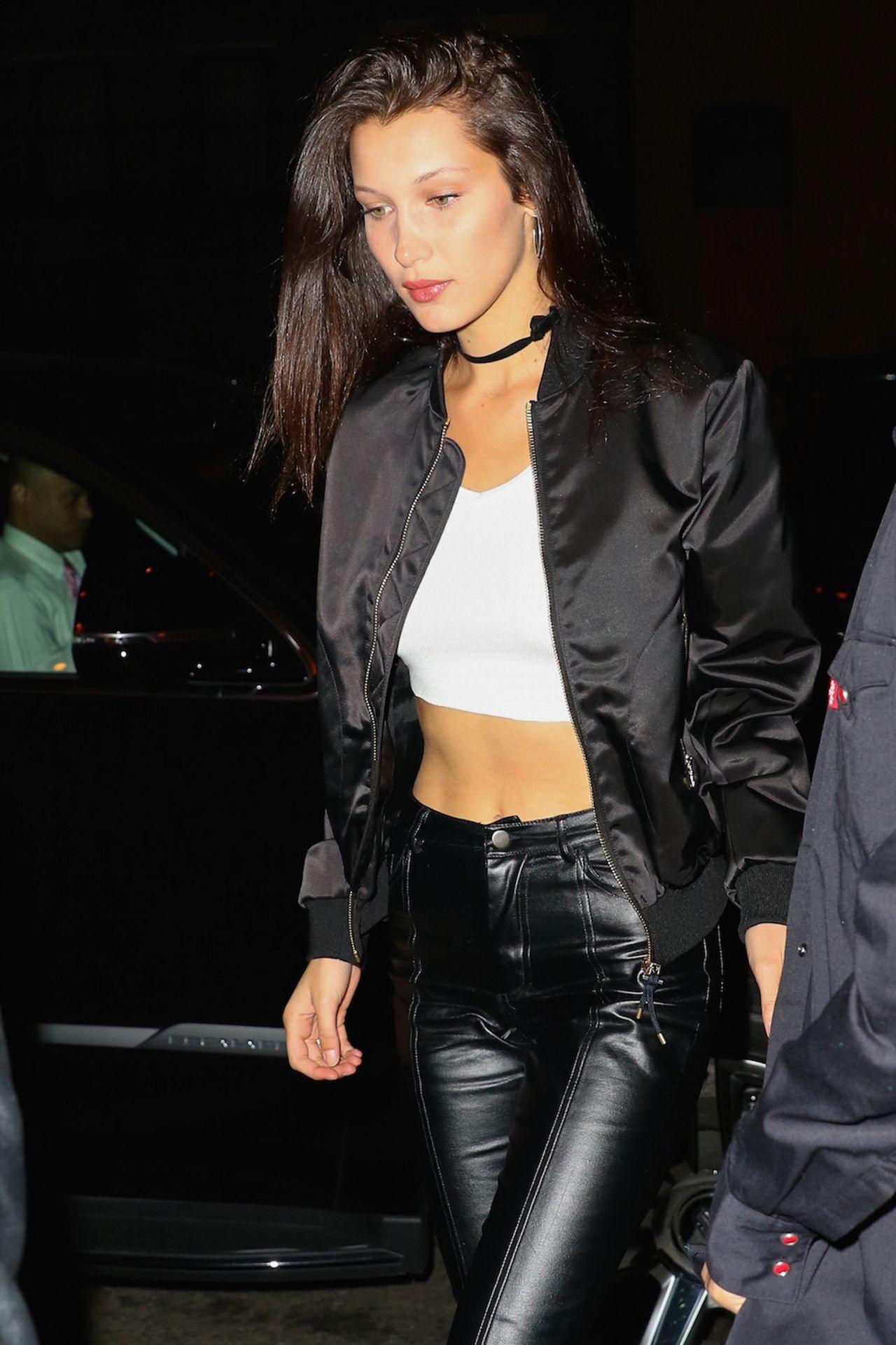 Bella Hadid At Ralph Lauren Runway Show At New York: Bella Hadid Night Out Style