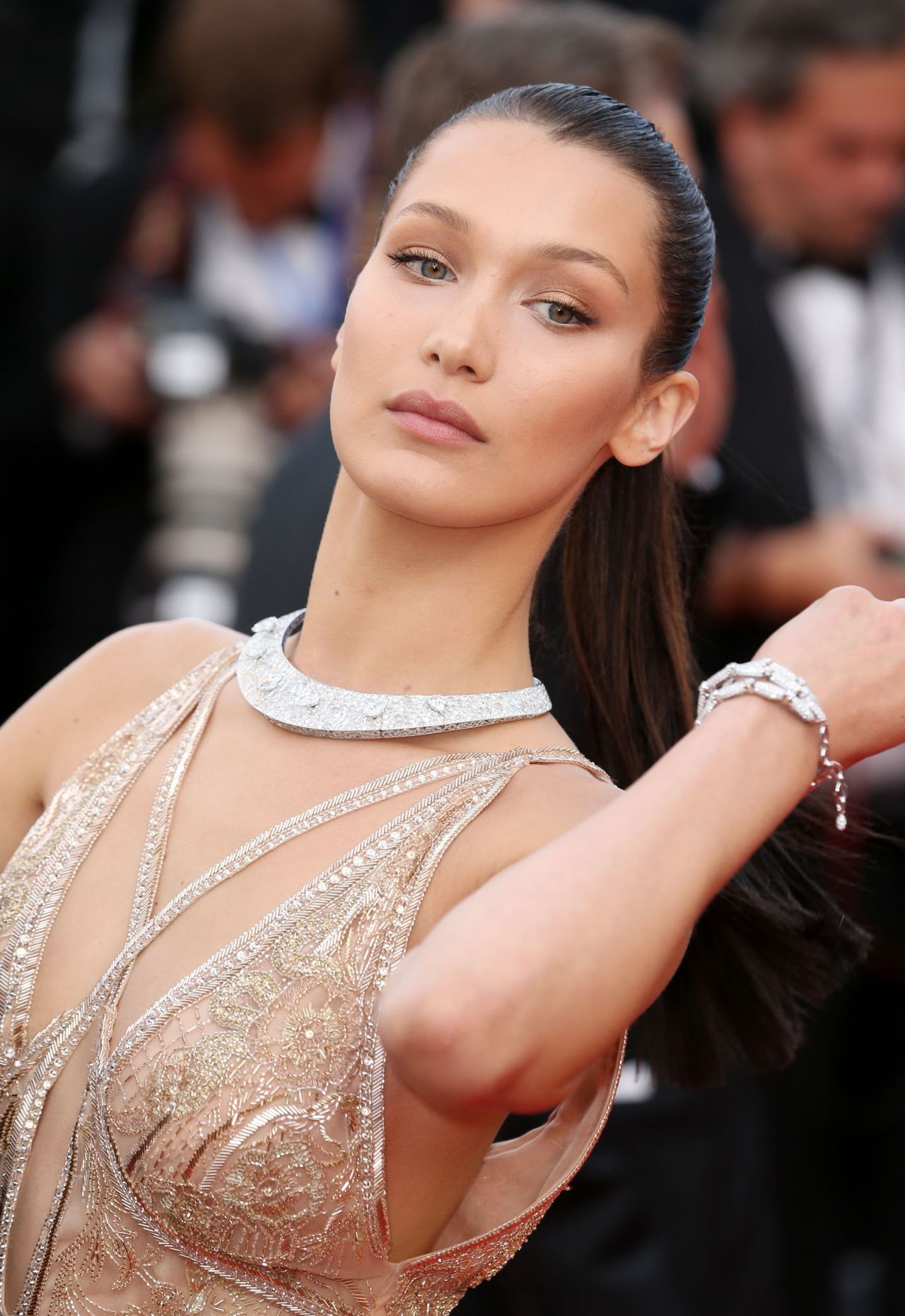 Bella Hadid At Ralph Lauren Runway Show At New York: The 69th Annual Cannes Film