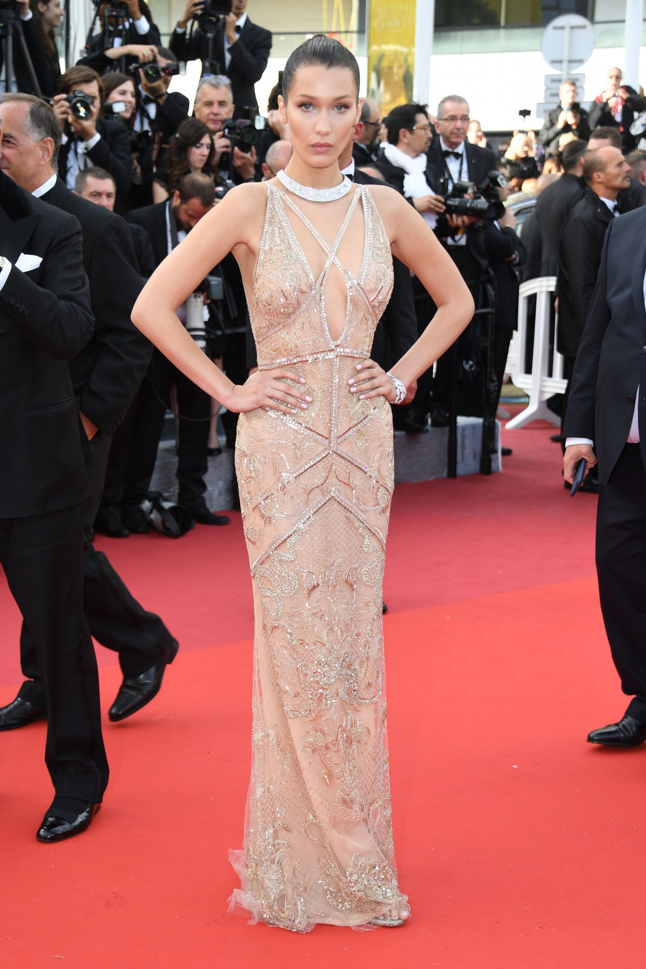 Bella Hadid On Red Carpet The 69th Annual Cannes Film