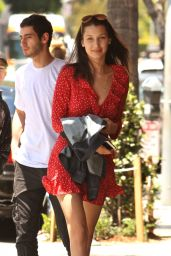 Bella Hadid Summer Ideas - at Il Pastaio in Beverly Hills, May 2016