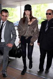 Bella Hadid Travel Outfit - Charles de Gaulle Airport in Paris 5/28/2016
