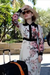 Bella Heathcote Travel Outfit - Arrives at Nice Airport in France 5/19/2016