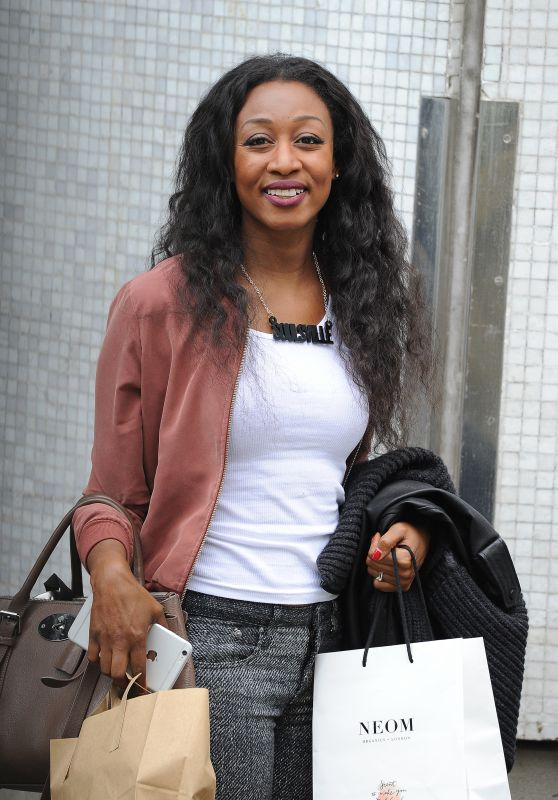 Beverley Knight - After pre-recording Lorraine Show in London 5/12/2016