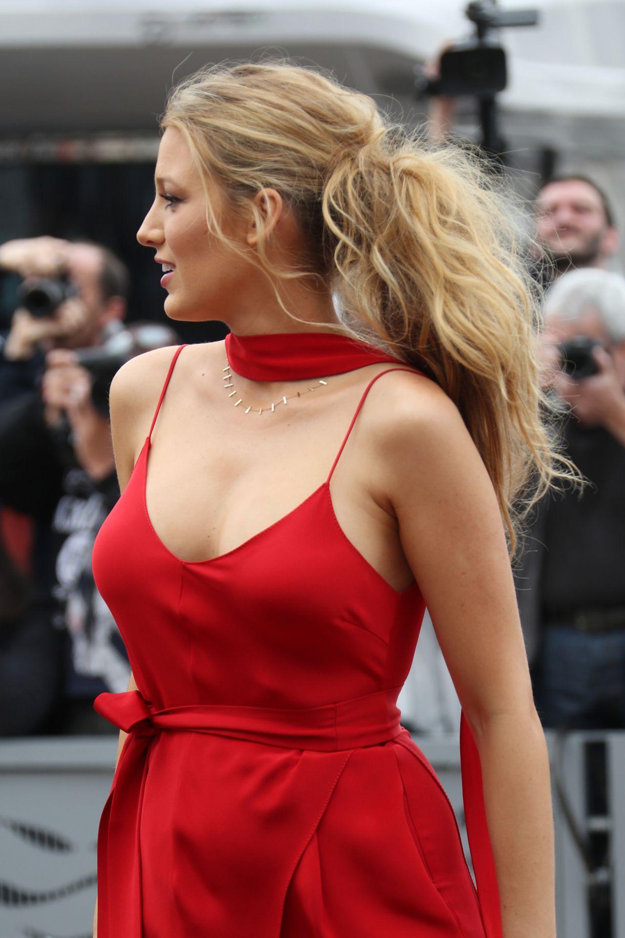 Blake Lively in Red Dress - Arrives at Palais des Festival ...