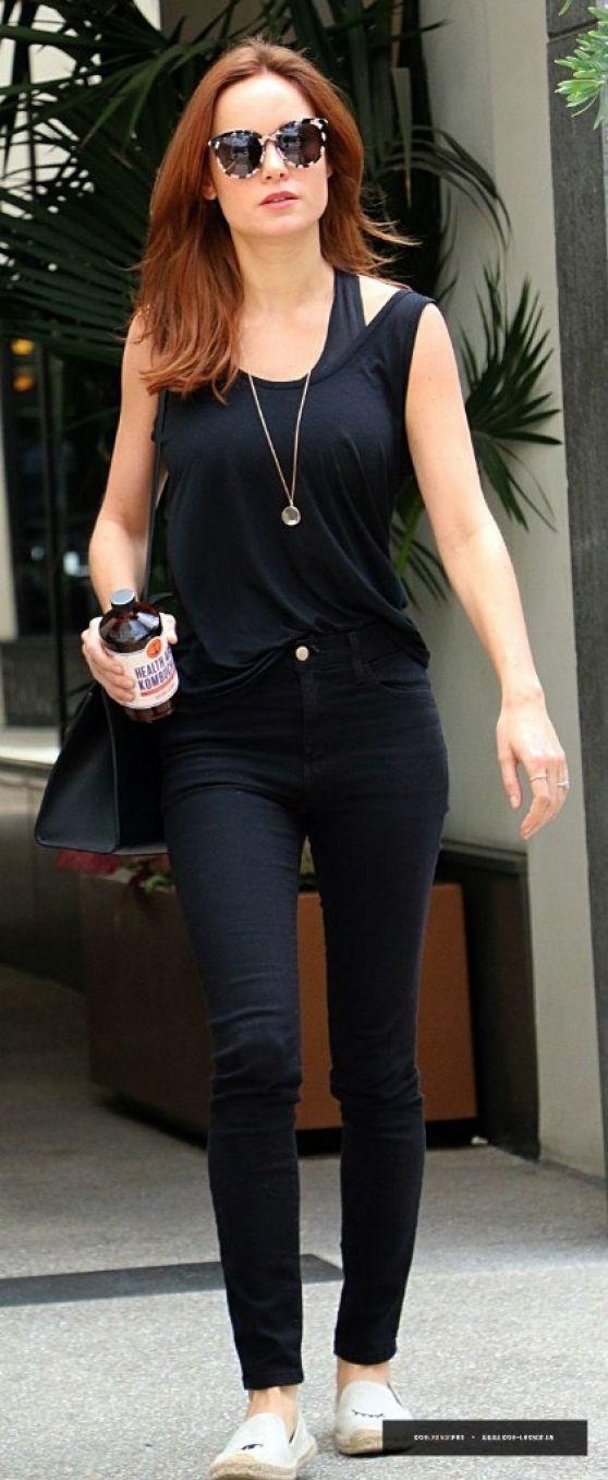 Brie Larson Casual Style Leaving Beauty Salon In Los