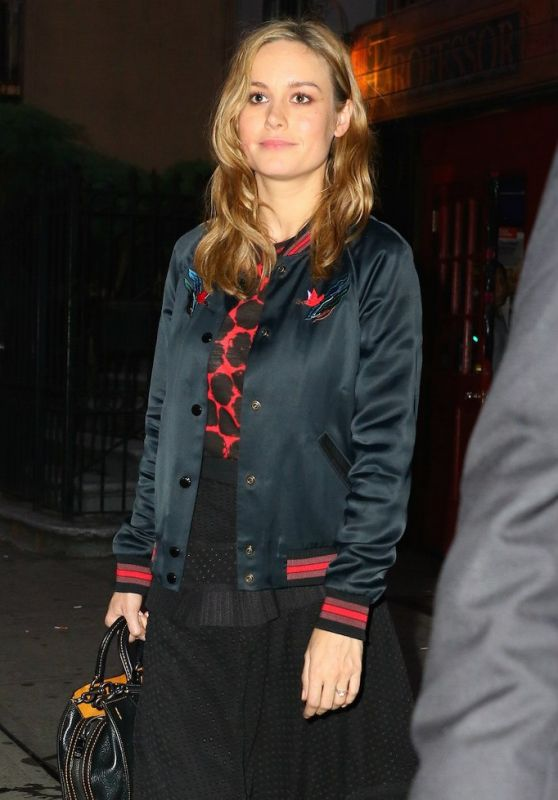 Brie Larson - Leaving Professor Thom's in New York City, May 2016