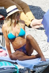 Brittany Daniel in a Bikini - Beach in Portofino 5/7/2016