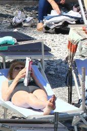 Brittany Daniel in a Bikini - Beach in Portofino 5/7/2016