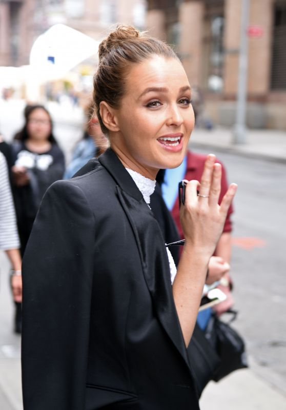 Camilla Luddington - Outside AOL Build & Huffington Post in New York City, May 2016