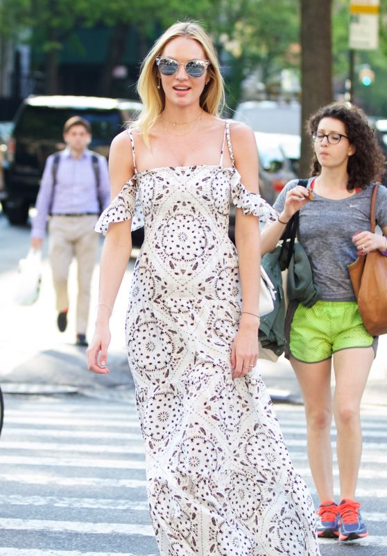 Candice Swanepoel Spring Outfit Ideas - Out in NYC 5/11/2016