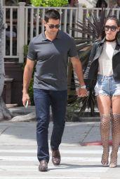 Cara Santana Leggy in Jeans Shorts - Los Angeles, May 2016