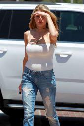 Charlotte McKinney in Ripped Jeans - Out in Malibu 5/26/2016