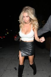 Charlotte McKinney Night Out Style - at The Nice Guy in West Hollywood 5/11/2016