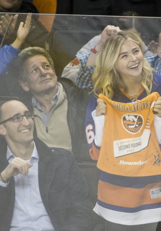 Chloë Grace Moretz at Islanders Lightning Game in Brooklyn in NYC 5/6/2016