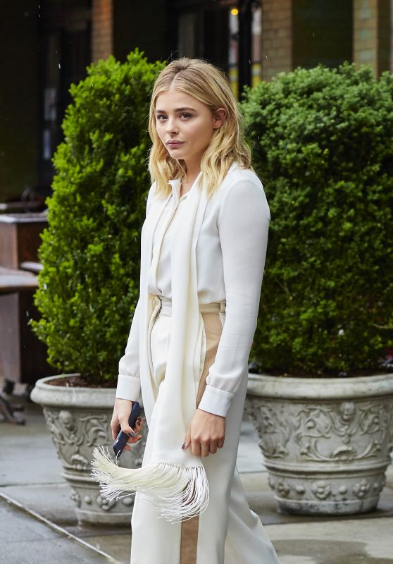 Chloe Moretz Chic Outfit - Seen While Departing Her Hotel in NYC 5/3/2016