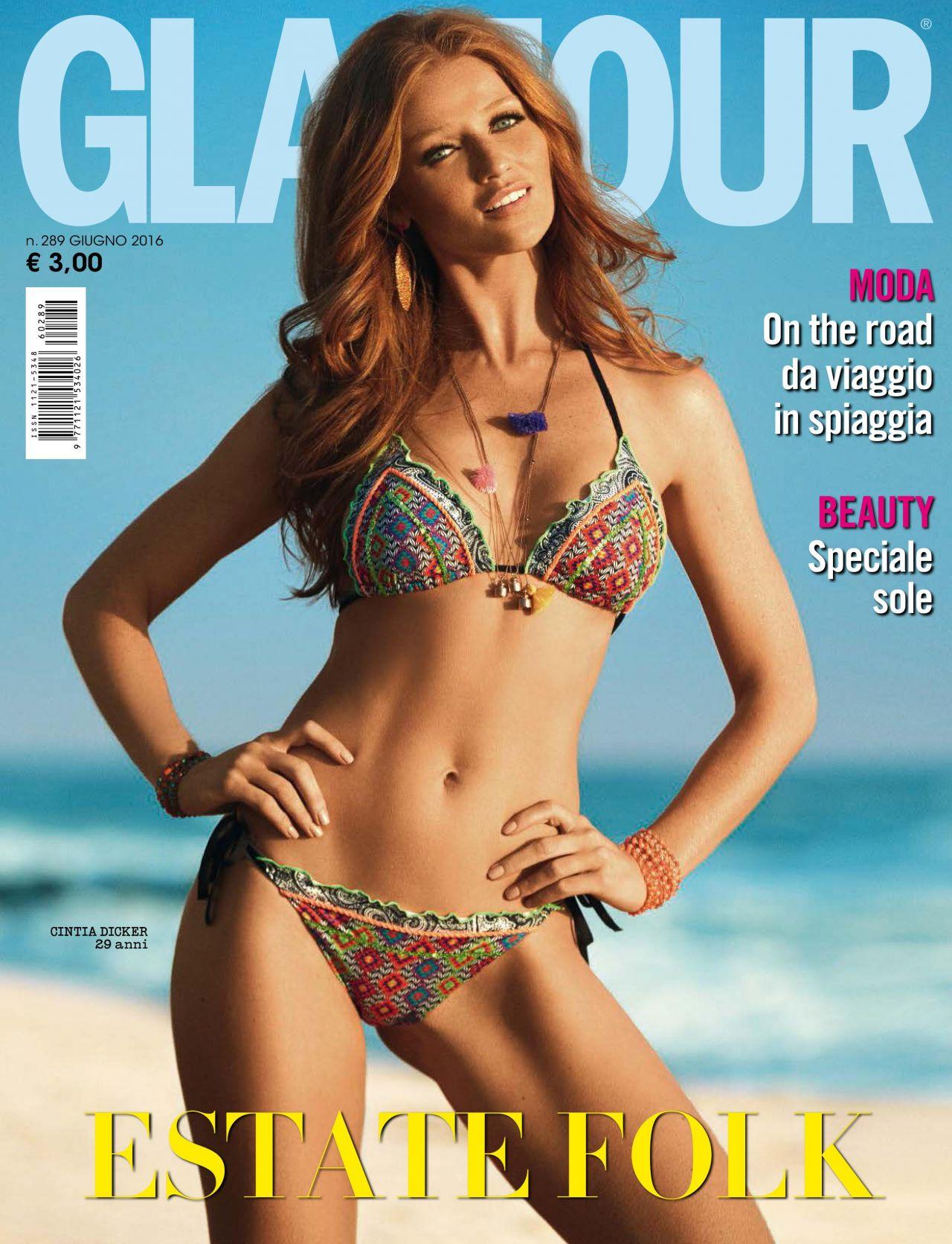 Cintia Dicker Glamour Magazine Italia June 2016 Issue