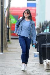 Daisy Lowe Taking Her Dog For a Walk - Primrose Hill, April 2016