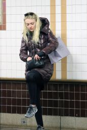 Dakota Fanning at a Subway Station in New York City 5/7/2016