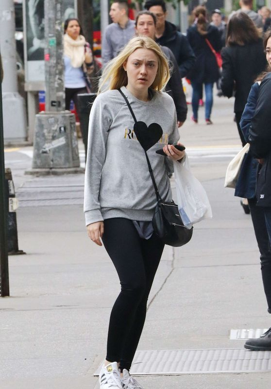 Dakota Fanning Street Style - Out in NYC 5/18/2016