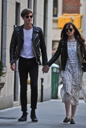 Dakota Johnson and Boyfriend Matthew Hitt - Seen Out Holding Hands Walking in New York City 5/1/2016