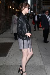 Dakota Johnson Chic Outfit - Outside Late Show with Stephen Colbert 5/3/2016
