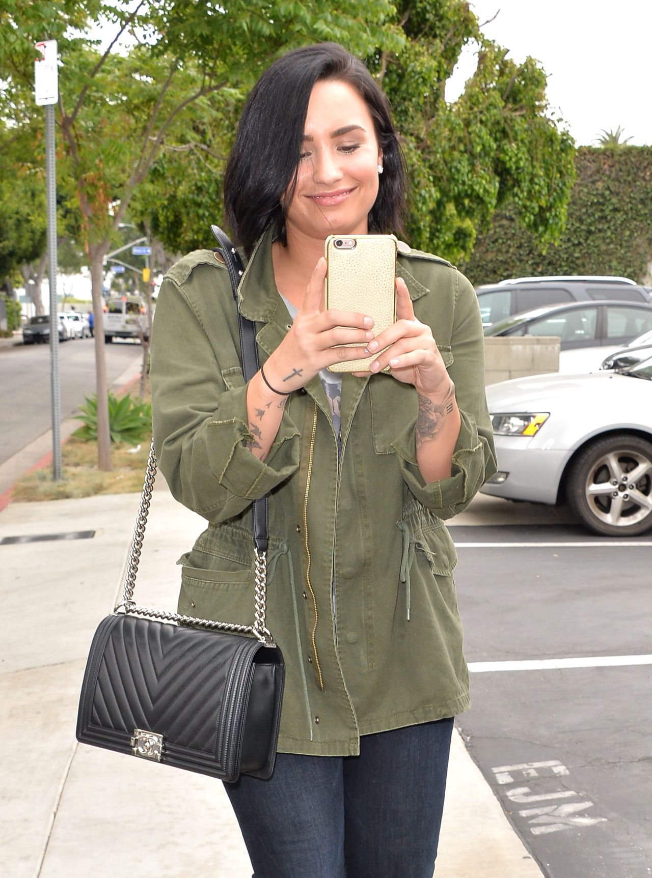 Demi Lovato Street Style Heading To The Office In West