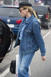 Diane Kruger in All Jean Ensemble - Landing at Berlin Tegel Airport 5/25/2016