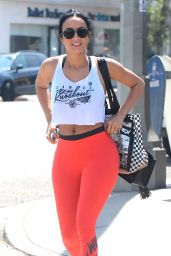 Draya Michele in Spandex - Leaves Kings Road Cafe in LA, May 2016