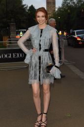 Eleanor Tomlinson – British Vogue 100th Anniversary Gala Dinner in London 5/23/2016