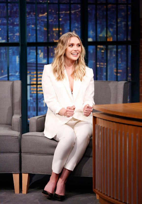 Elizabeth Olsen at Late Night With Seth Meyers in New York City 5/3/2016