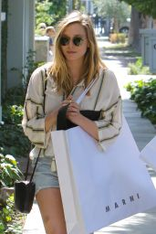 Elizabeth Olsen in Jeans Shorts - Out Shopping in West Hollywood 5/13/2016