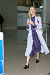 Elle Fanning - LAX Airport in Los Angeles 5/29/2016