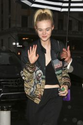 Elle Fanning Style - Arriving at a Hotel in New York City 5/1/2016