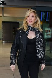 Ellie Goulding Chic Outfit - at London Heathrow Airport 5/25/2016